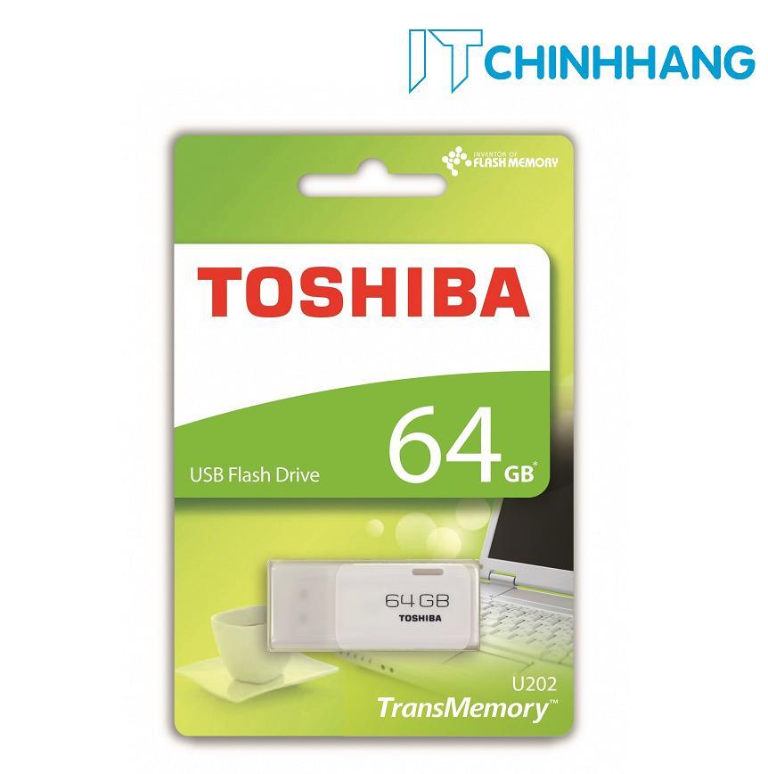 Hình ảnh USB 64GB TOSHIBA U202 ( TRẮNG ) - HÃNG PHÂN PHỐI CHÍNH THỨC