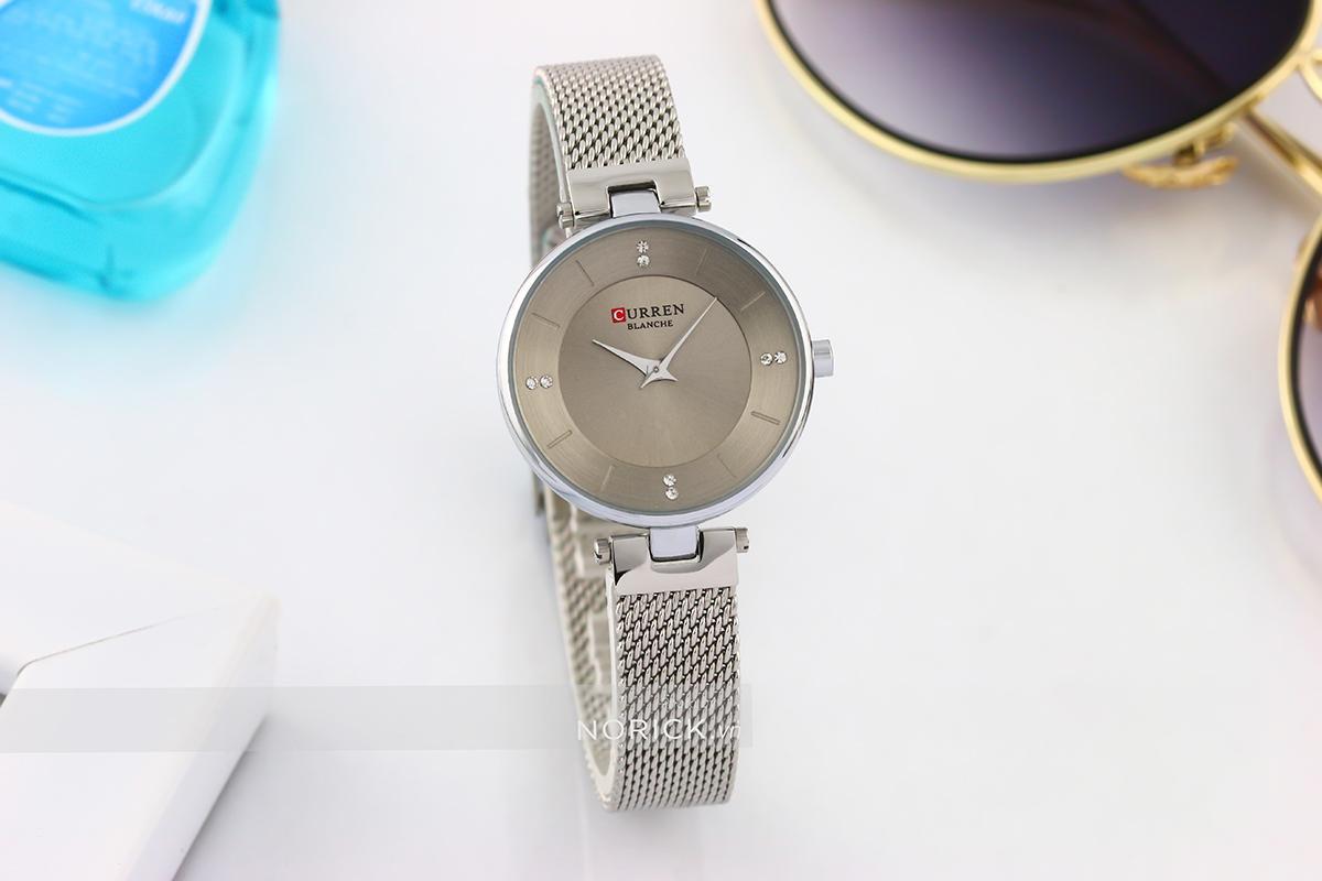 Nơi bán [GIẢM GIÁ CỰC MẠNH]  Đồng hồ nữ dây thép lụa chống nước trẻ trung thanh lịch - Đồng hồ CURREN