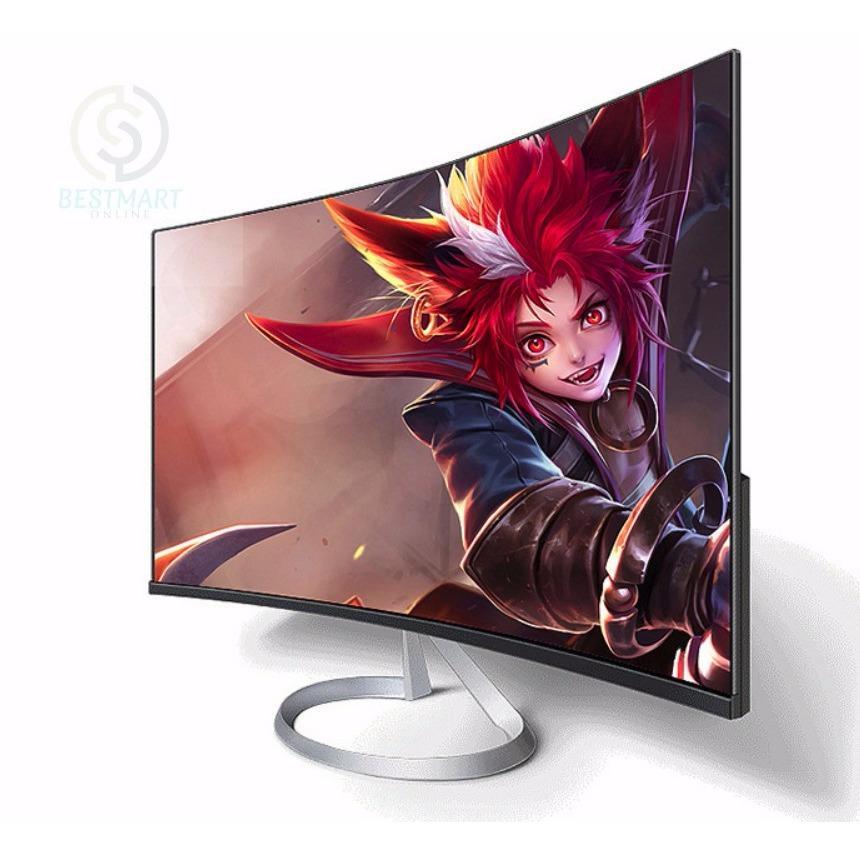 Màn hình cong máy vi tính để bàn BestMart 27 inch IPS Full HD dành cho game thủ (Trắng)