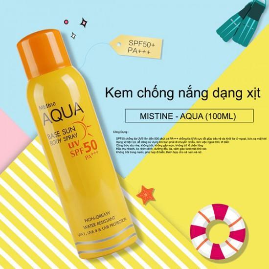 Xịt Chống Nắng Mistine Aqua Base Sun Body Spray SPF 50 - Thái Lan nhập khẩu