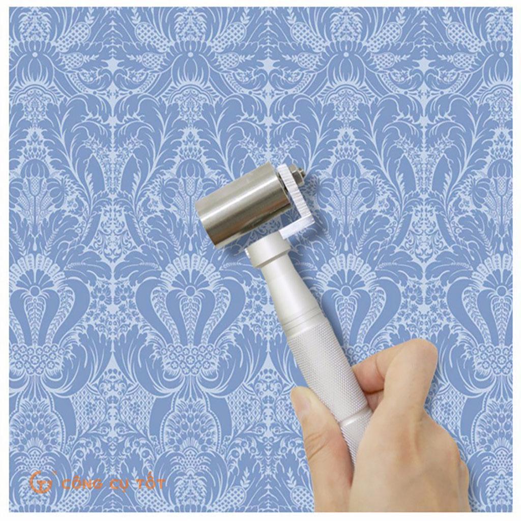 Con lăn mí phẳng giấy dán tường chống dính bằng thép không gỉ khổ 40mm