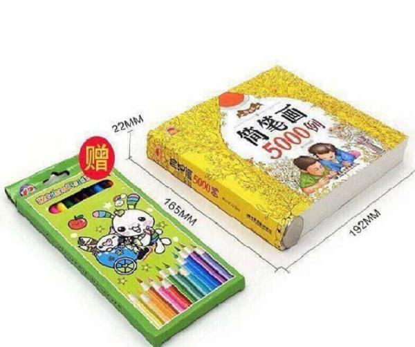 Hình ảnh Sách tô màu 5000 hình +Tặng 12 bút màu siêu dễ thương cho bé thỏa sức sáng tạo nghệ thuật