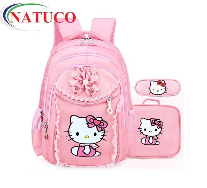 Giá bán Bộ ba lô, túi đeo, hộp bút siêu nhẹ xinh yêu cho bé gái
