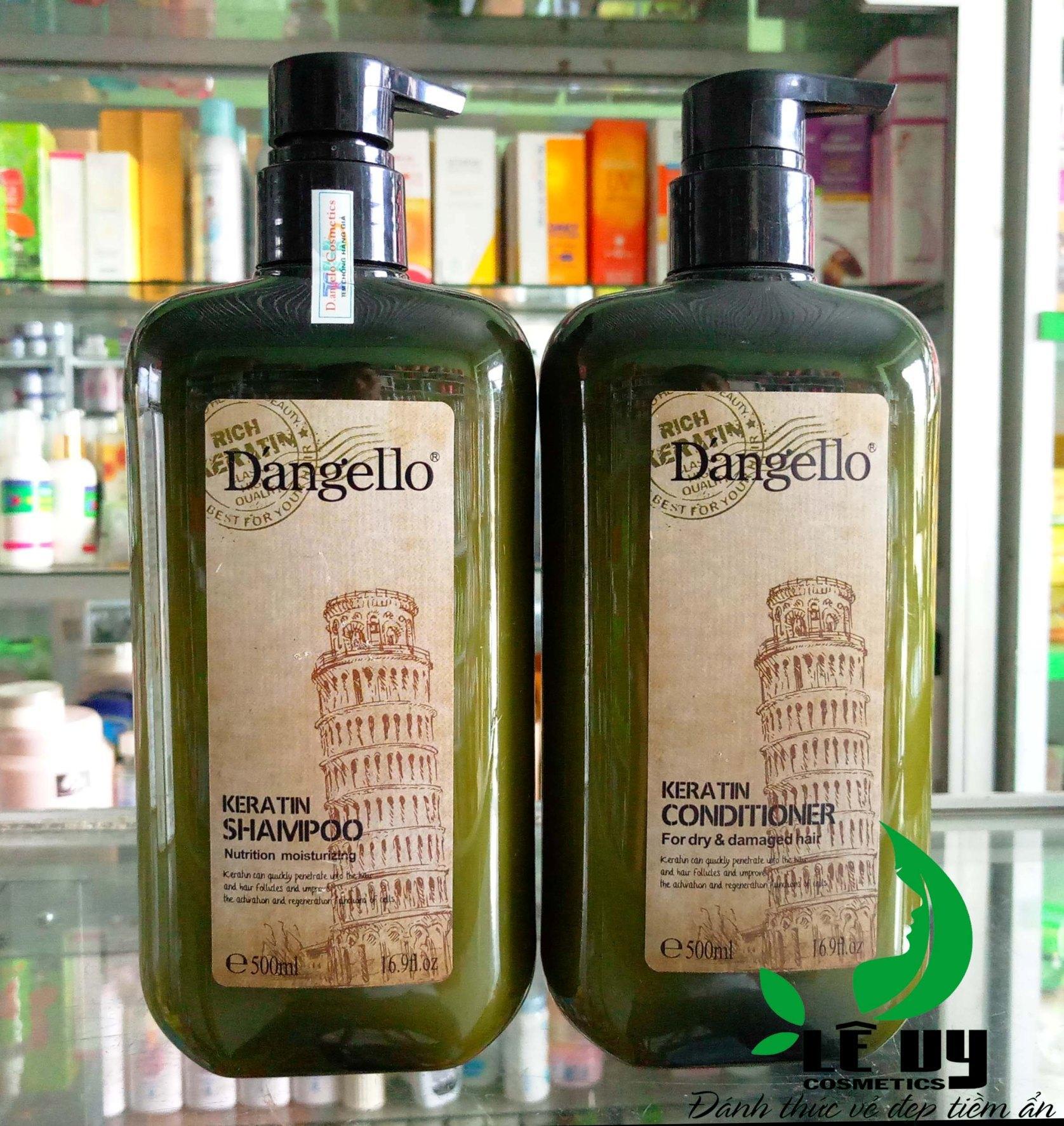 Cặp dầu Gội/Xả  Keratin Dangello 500ml