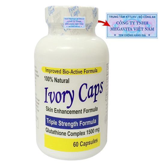 Viên Uống Trắng Da Và Trị Nám Ivory Caps Gc01-01 Glutathione Complex 1500mg 60 Viên
