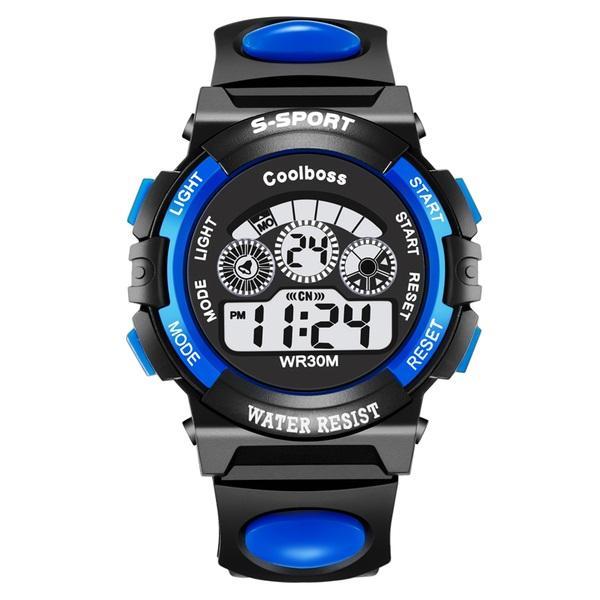 Nơi bán Đồng hồ trẻ em day cao su GOLDTIME S-sport(xanh dương)