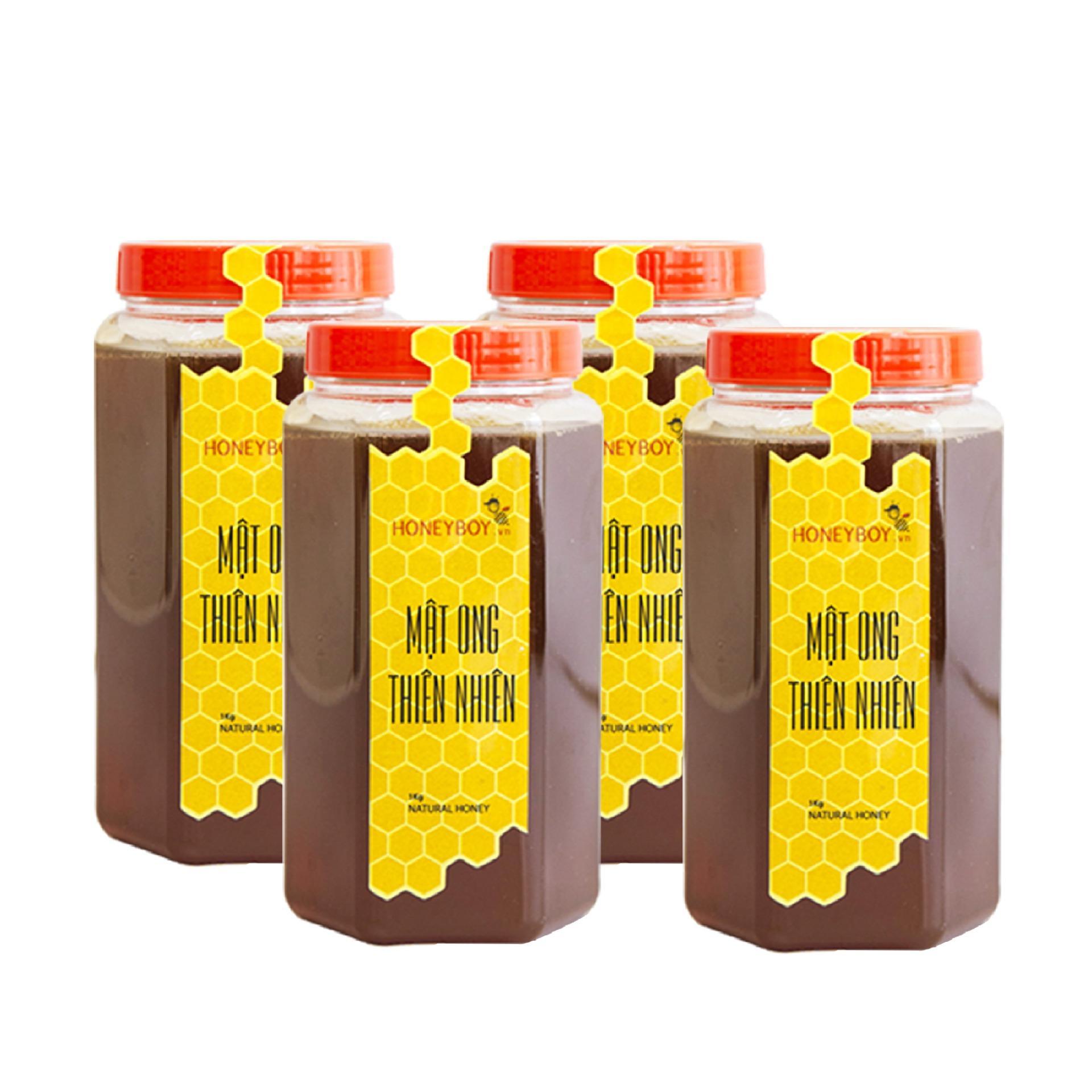 Combo 4 Mật ong thiên nhiên Honeboy 1Kg