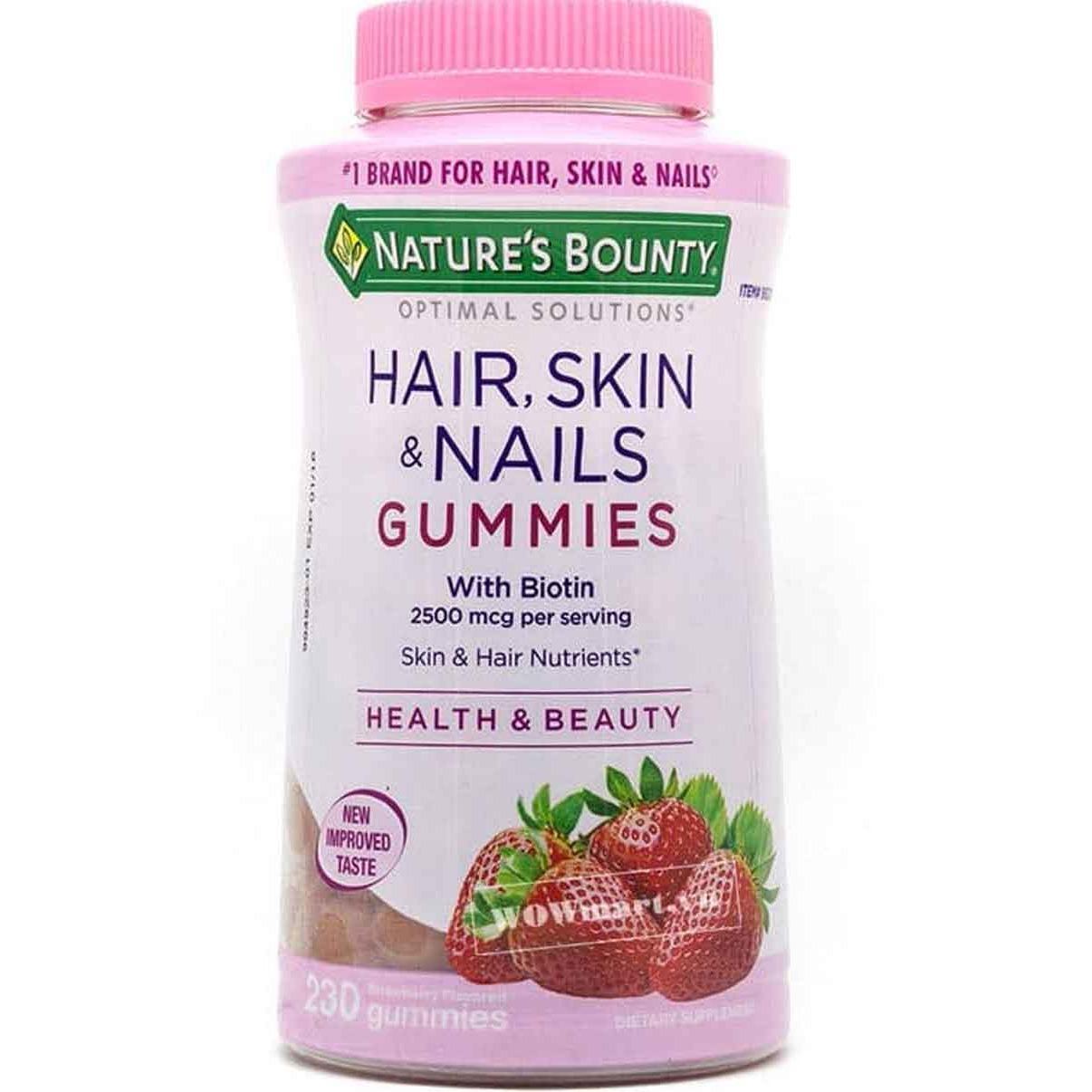 Ôn Tập Trên Kẹo Dẻo Lam Đẹp Da Mong Va Toc Nature S Bounty Hair Skin Nails Gummies 230 Vien Mỹ