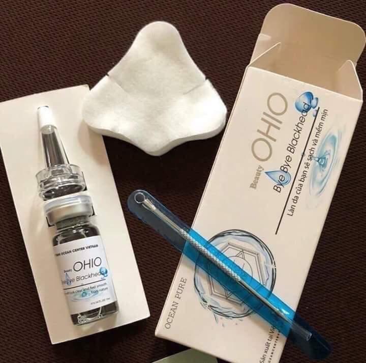 Serum ủ mụn OHIO giúp trị mụn làm trắng da chống lão hóa da - hộp 10ml - TẶNG KÈM CÂY NẶN MỤN