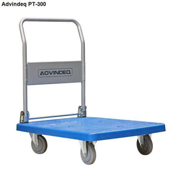 Xe đẩy hàng 4 bánh sàn nhựa ADVINDEQ PT-300 tải trọng chở 300kg tay đẩy gấp gọn