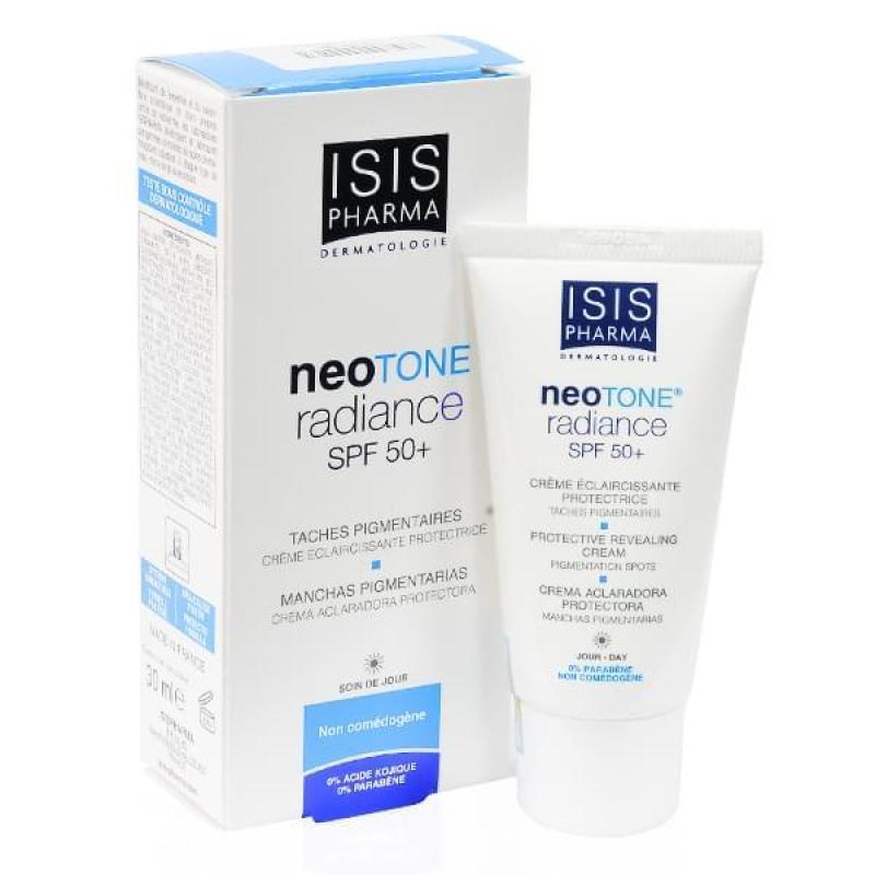 Kem dưỡng trắng da, kết hợp với chống nắng Neotone Radiance SPF50+ Isis pharma 30ml nhập khẩu