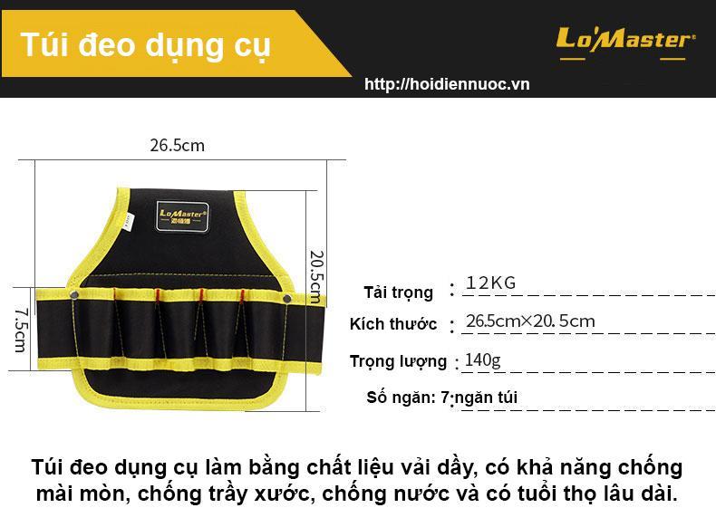 Dây đai đeo thắt lưng dắt đồ nghề cho thợ điện nước,điều hòa,camera