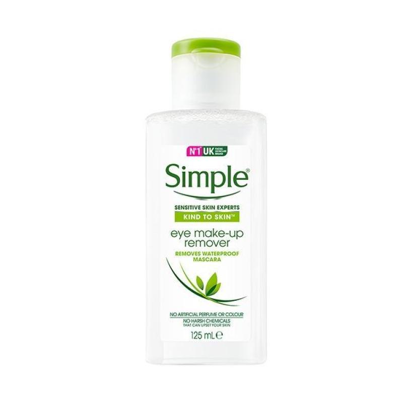 Nước Tẩy Trang Mắt Môi Simple Kind To Skin Eye Make-up Remover 125ml