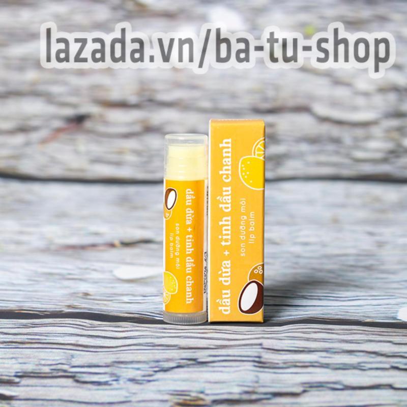 Son dưỡng môi Sáp ong dầu dừa tinh chất chanh 5gram