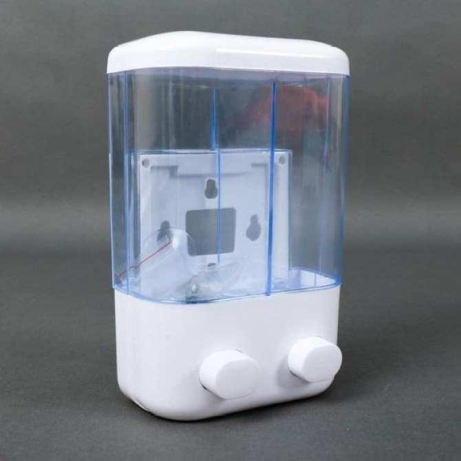 Hộp đựng xà phòng nước rửa tay TOUCH SOAP XG03A-1 gắn tường loại 2 bình 1000001086