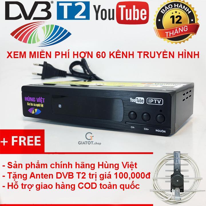 Hình ảnh Đầu thu kỹ thuật số DVB T2 HÙNG VIỆT TS-123 Internet tặng Anten thông minh