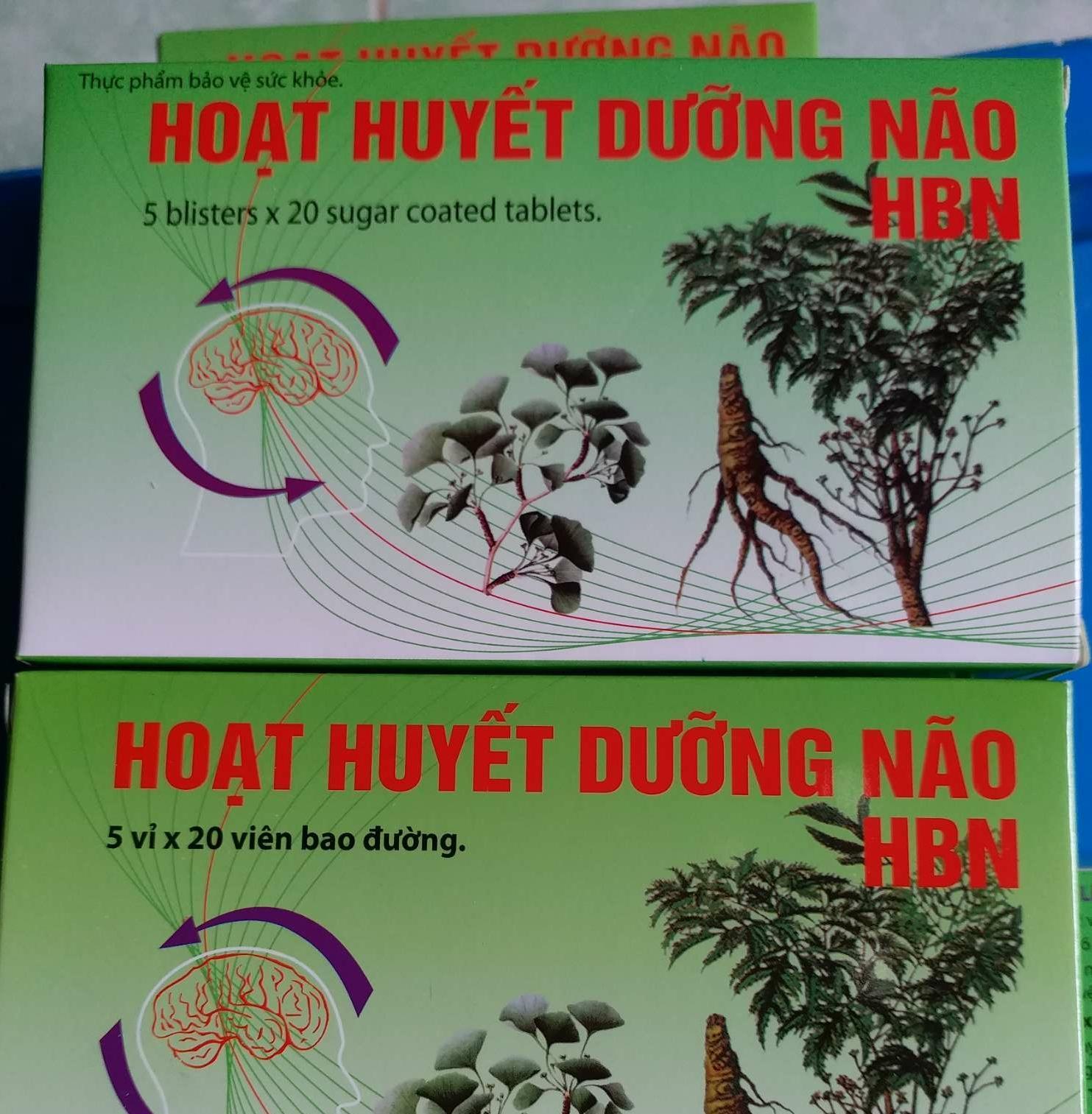 Hoạt Huyết Dưỡng Não Hbn Hộp 100v By Duocpham_usapharma.