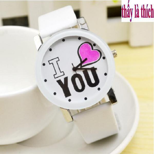 Đồng Hồ Nữ Mặt Họa Tiết I Love You - DH2018400049045069