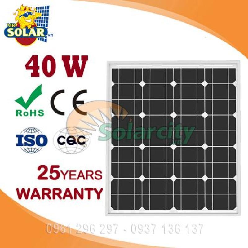 Pin Năng Lượng Mặt Trời Mono 40w World Energy