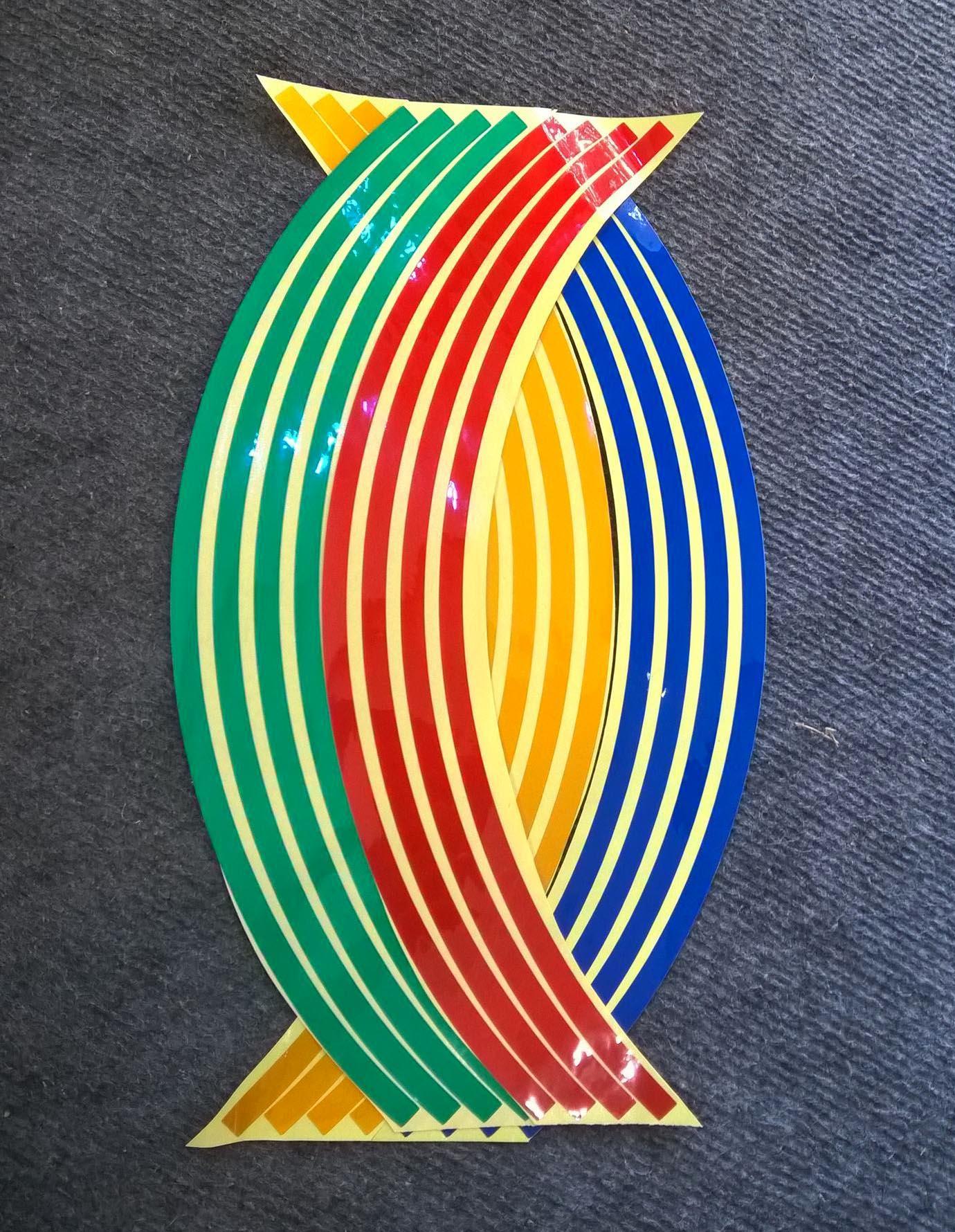Bộ dán phản quang vành xe