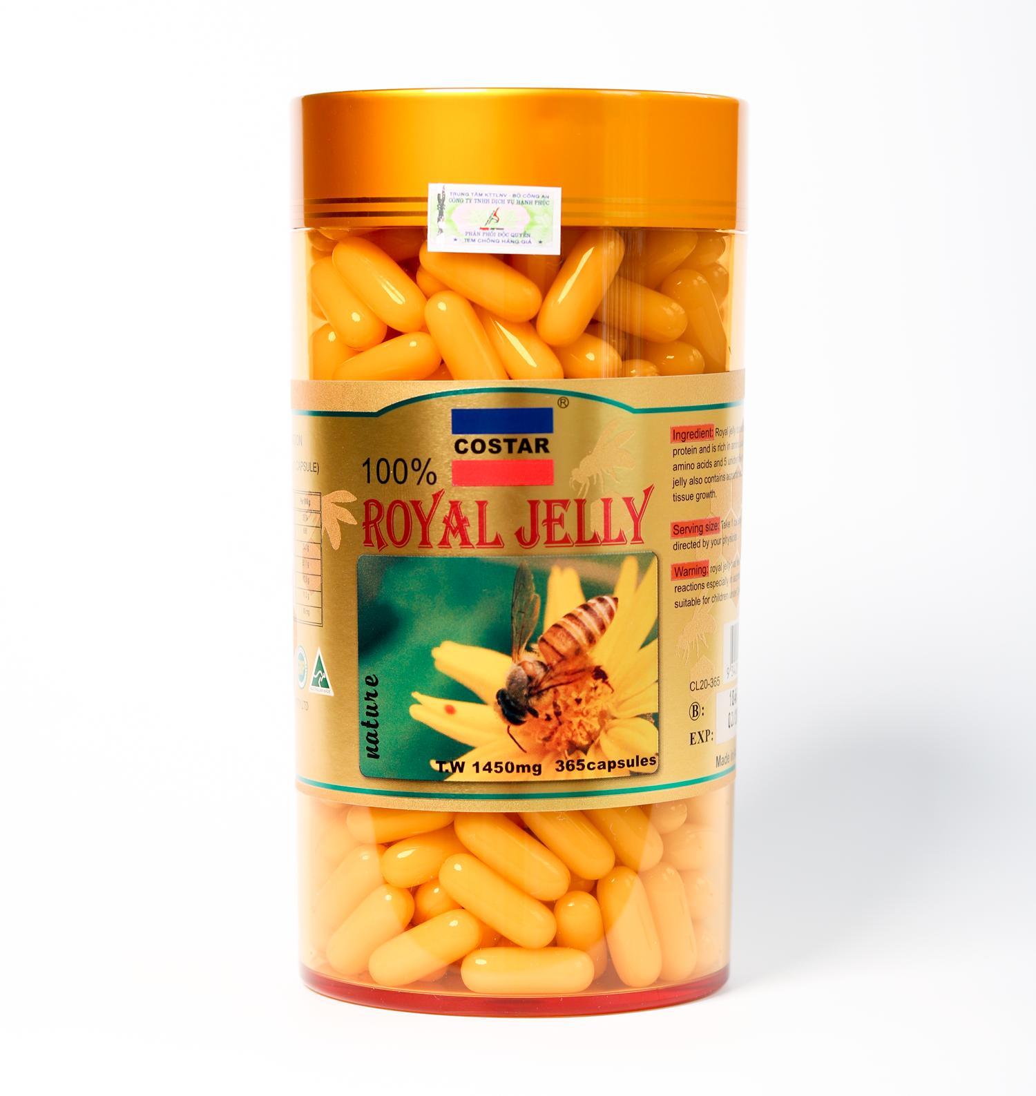 Sữa Ong Chúa úc Costar Royal Jelly Soft Gel Capsules 1450mg (365 Viên) Đang Ưu Đãi