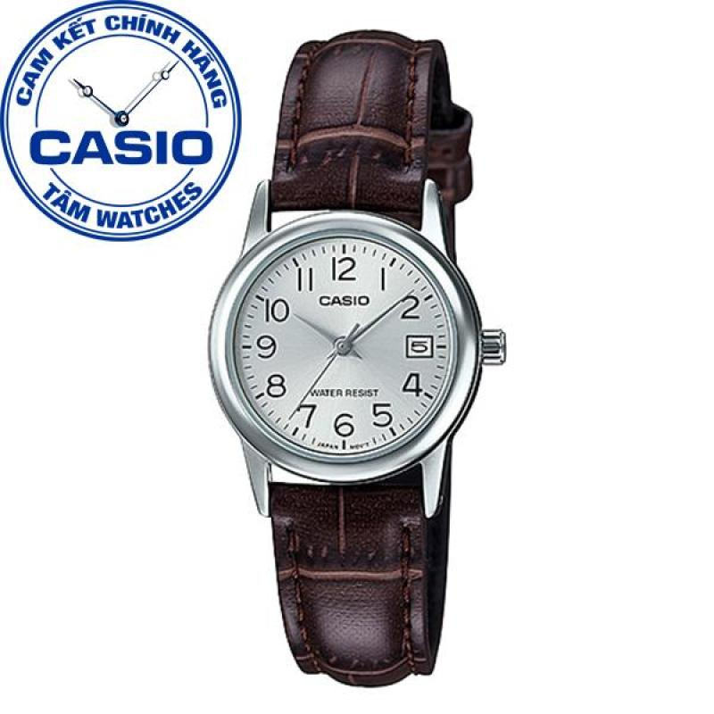 Đồng hồ nữ dây da Casio Standard Anh Khuê LTP-V002L-7B2UDF
