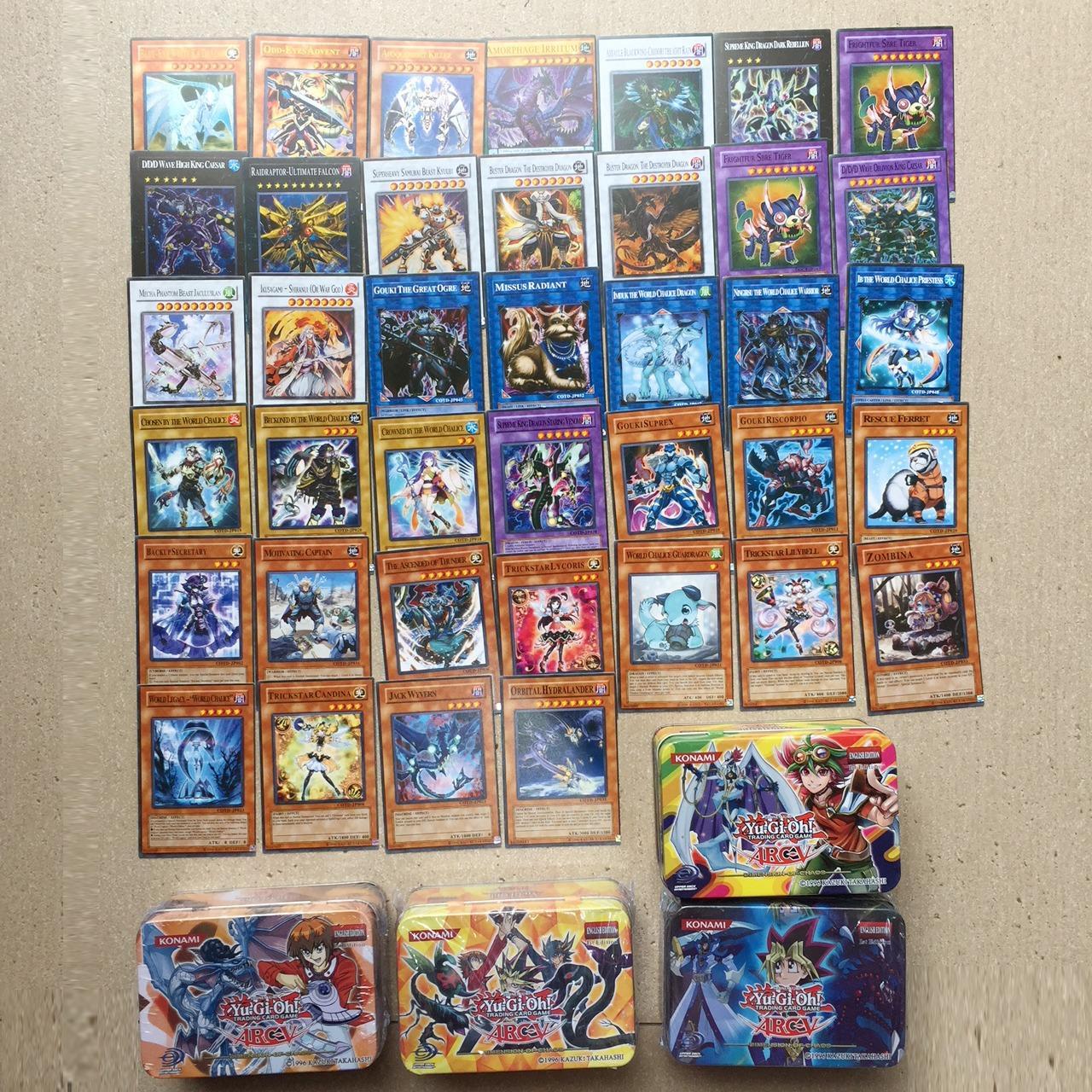Hình ảnh Bài Magic YuGiOh hộp sắt 39 lá Tiếng Anh 11cm x 7,5cm