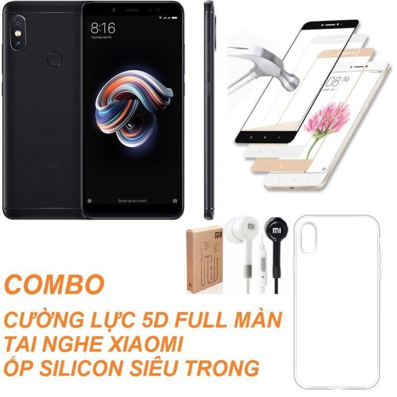 Xiaomi Redmi Note 5 Pro 32GB Ram 3GB (Đen) + Cường lực 5D Full màn + Ốp lưng + Tai nghe - Hàng nhập khẩu