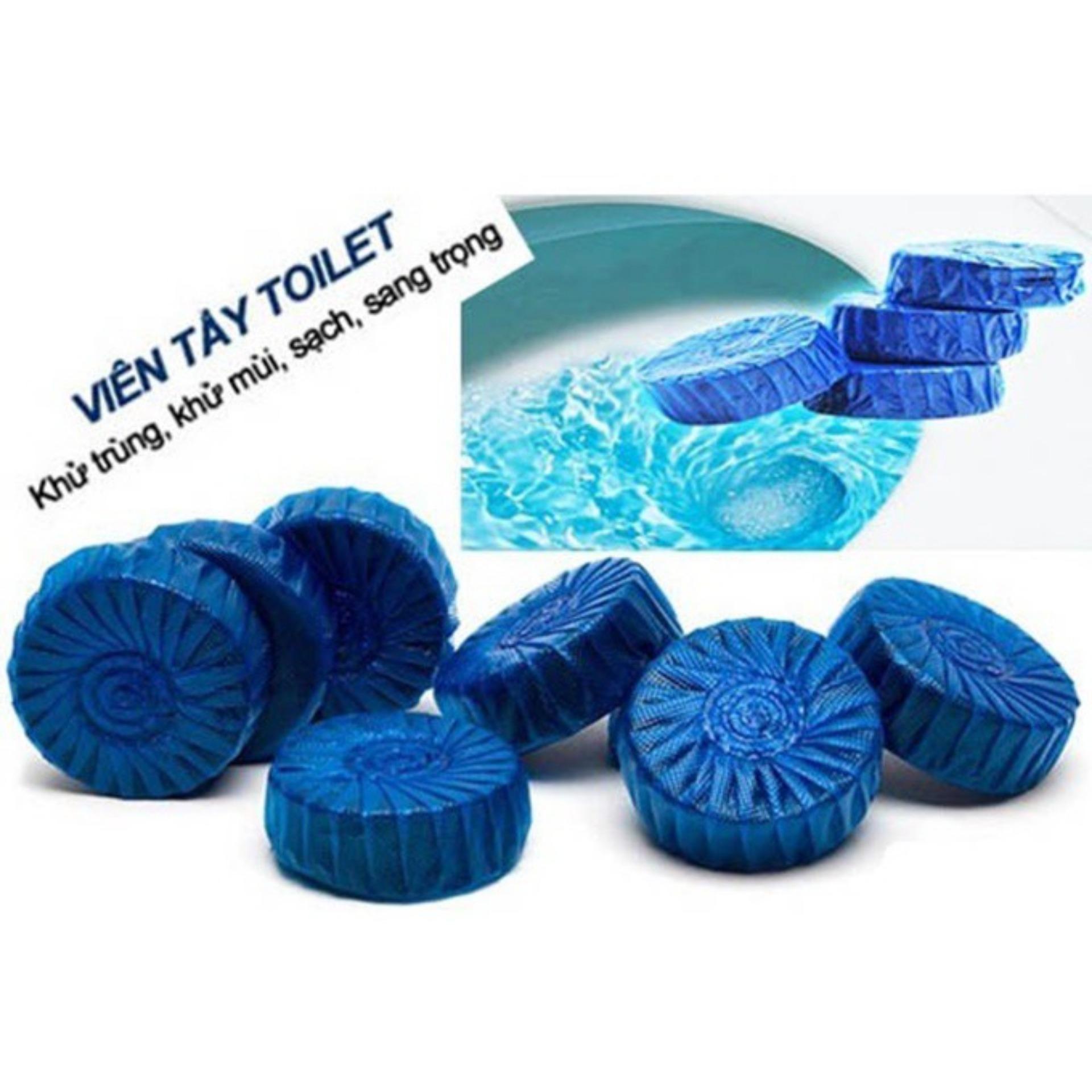 Hình ảnh Combo 10 Viên Khử Mùi Tẩy Bồn Cầu ( H2T store )