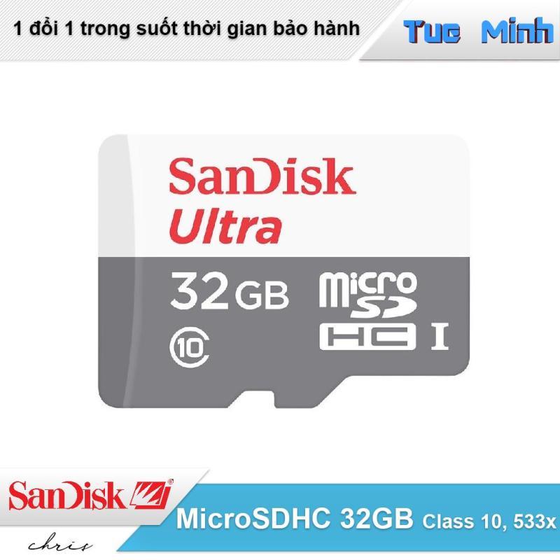 Thẻ nhớ MicroSDHC 32GB SanDisk Ultra Class 10 533x 80MB/s
