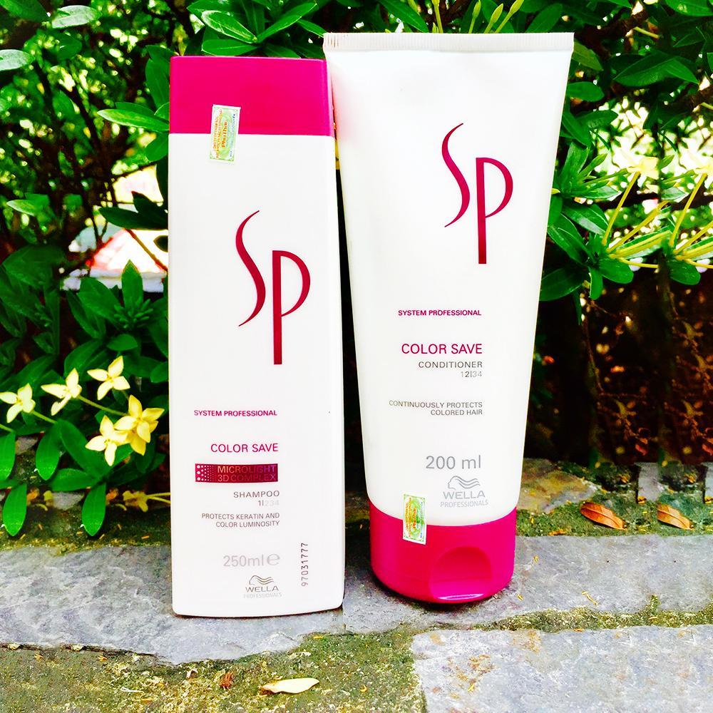 Cặp gội xả nhỏ giữ màu tóc nhuộm SP Color Save tốt nhất