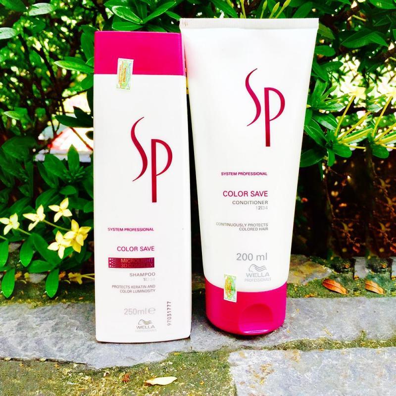 Cặp gội xả nhỏ giữ màu tóc nhuộm SP Color Save nhập khẩu