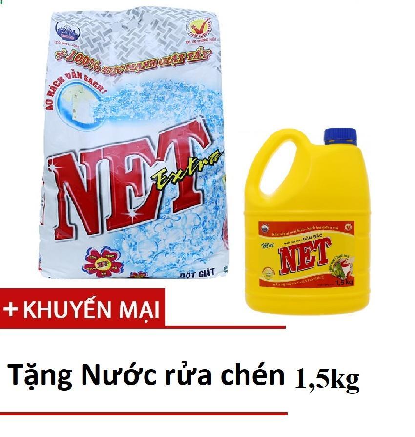 Mã Giảm Giá Khi Mua Bột Giặt Net Extra Siêu Sạch 6kg TẶNG Nước Rửa Chén NET 1,5kg