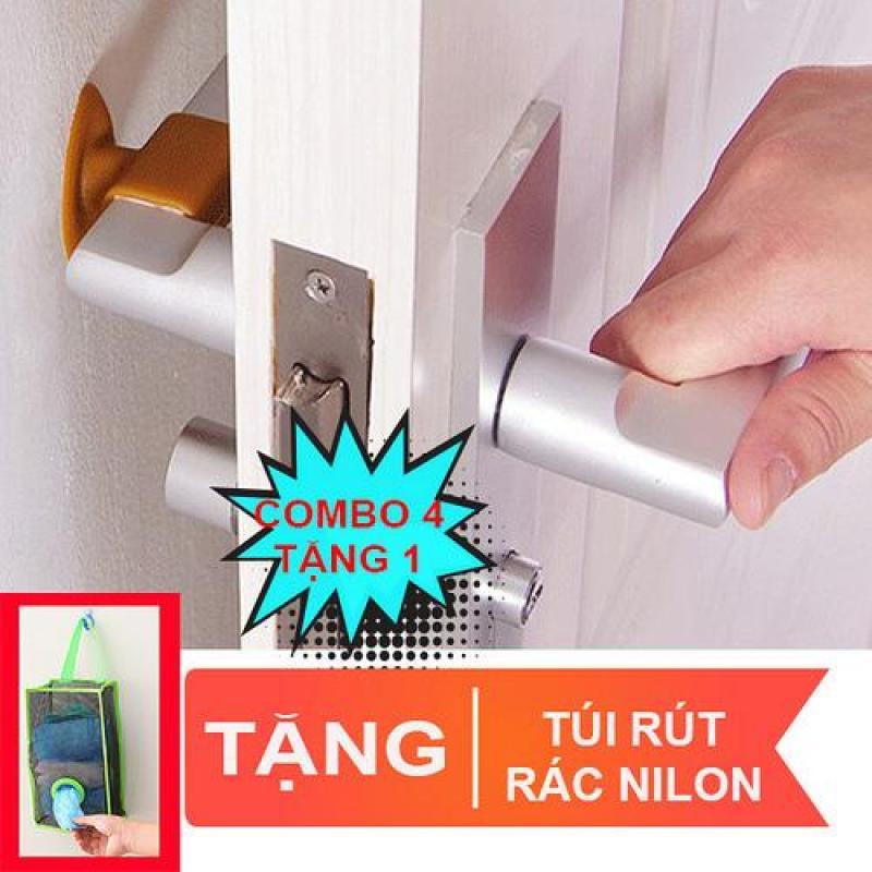 Bảng giá Combo 4 cao su chặn cửa ngăn sập tường, trầy tường, giảm ồn. Tặng giỏ rút túi rác Điện máy Pico