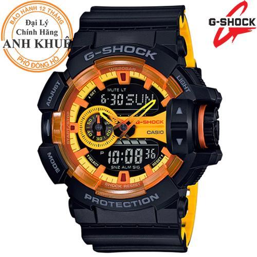 Đồng hồ nam dây nhựa G-SHOCK chính hãng Casio Anh Khuê GA-400BY-1ADR bán chạy