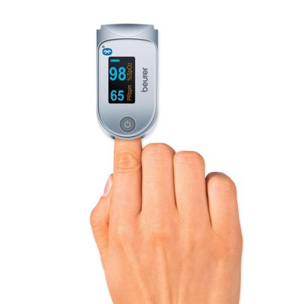 (GIÁ Hủy Diệt) Máy đo nồng độ oxy trong máu (SPO2) và nhịp tim kết nối smartphone qua bluetoooth beurer PO60 bán chạy