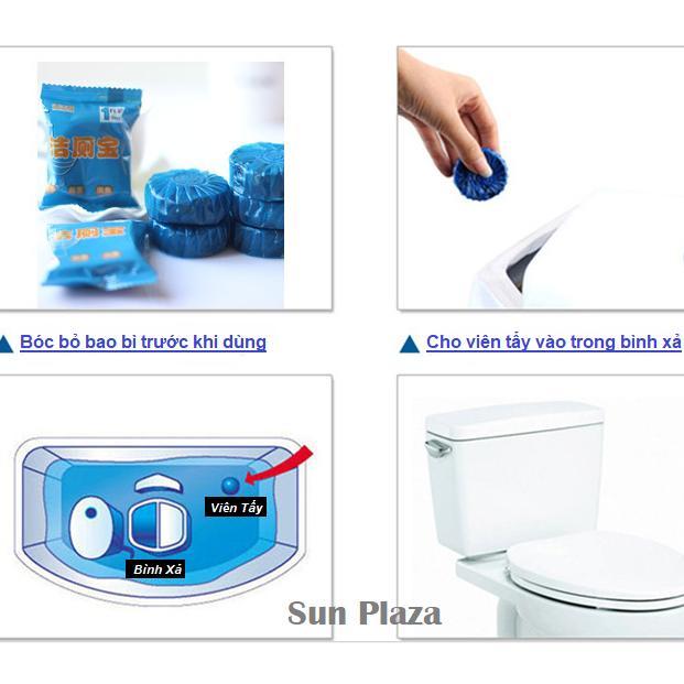 Combo 5 Viên Tẩy Bồn Cầu Khử Mùi - Chất Tẩy Rửa Vệ Sinh Nhà Tắm