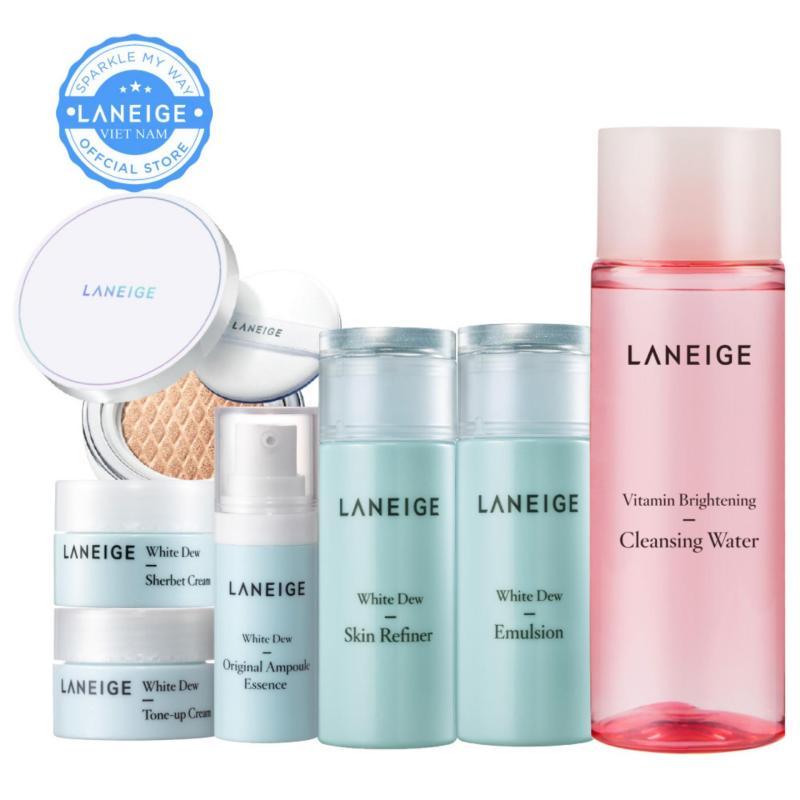 Combo trang điểm và dưỡng trắng da Laneige White Dew nhập khẩu