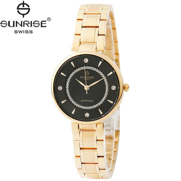 Nơi bán Đồng hồ nữ dây kim loại mặt kính sapphire chống xước Sunrise SL2128LK D