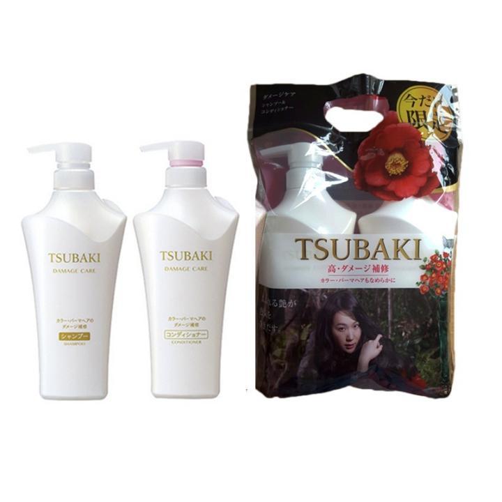 Bộ gội xả Tsubaki trắng Nhật Bản 500ml giá rẻ