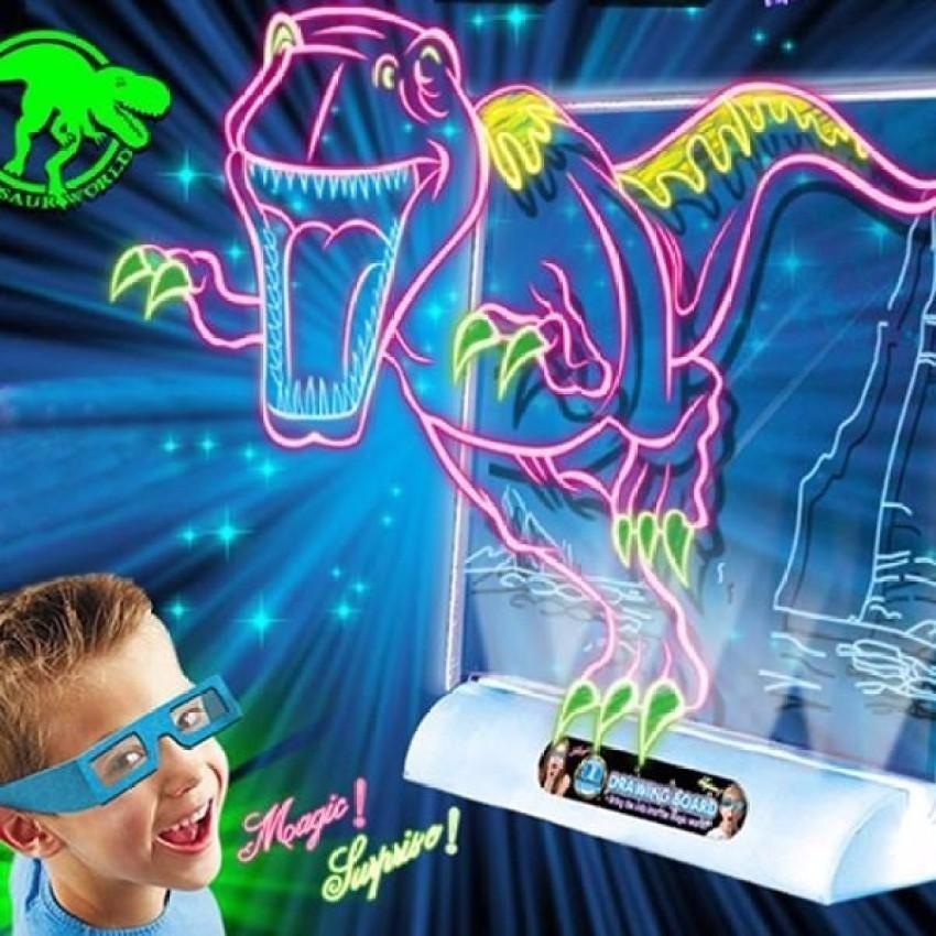 Hình ảnh Bộ bút và bảng vẽ tranh 3D Magic Board thông minh cho bé