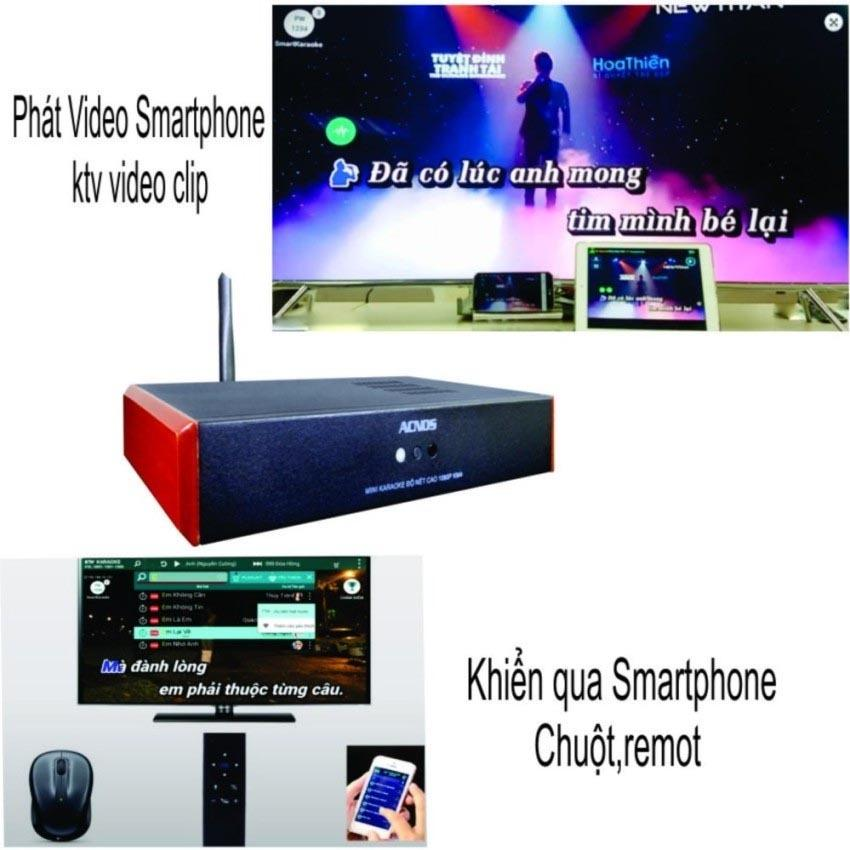 Giá Bán Đầu Karaoke Wifi Online Offline Hdd 2Tb Android Acnos Km4 Nhãn Hiệu Acnos