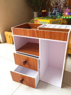 Tủ mini đưng mỹ phẩm , sách , đồ dùng cá nhân , khay son , kệ mỹ phẩm.-Màu gỗ thumbnail