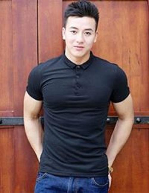 Áo thun nam body cổ trụ đẹp vải dày mịn thoáng mát phong cách Hàn Quốc ( đen )