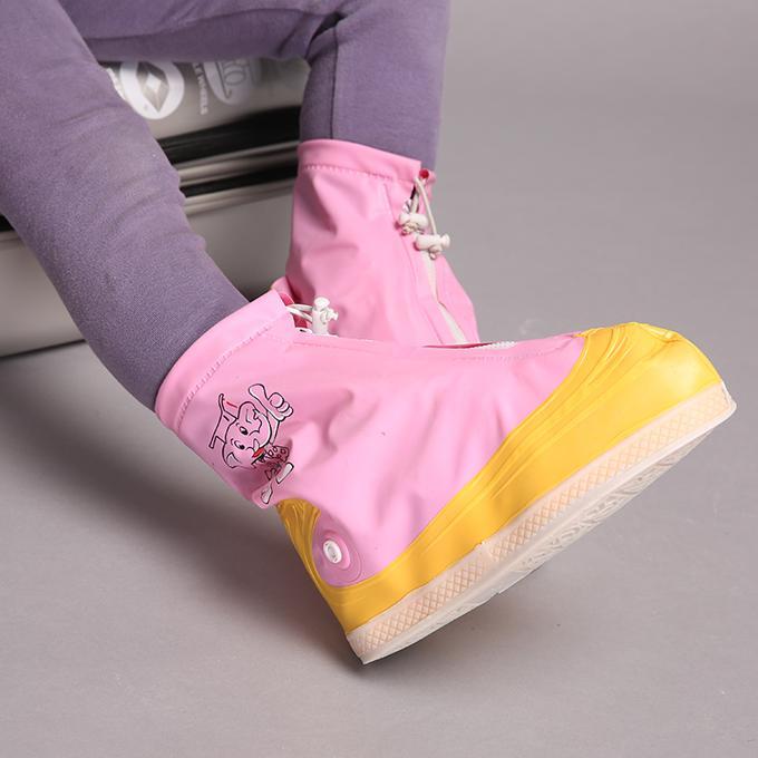Giá bán Bao bọc giày đi mưa A-3105Y nhựa dẻo 100% PVC (màu hồng vàng)