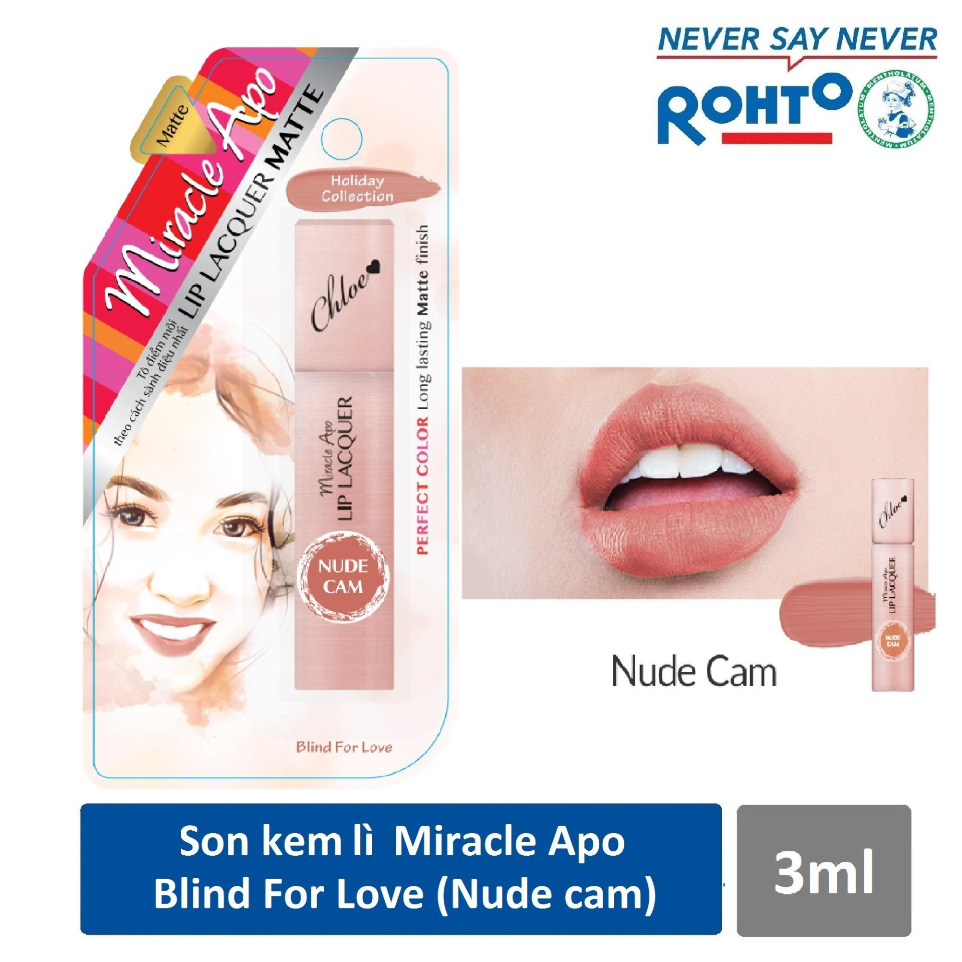 Hình ảnh Son kem lì Miracle Apo Lip Lacquer Matte Holiday Collection Blind For Love 3ml (Nude cam)