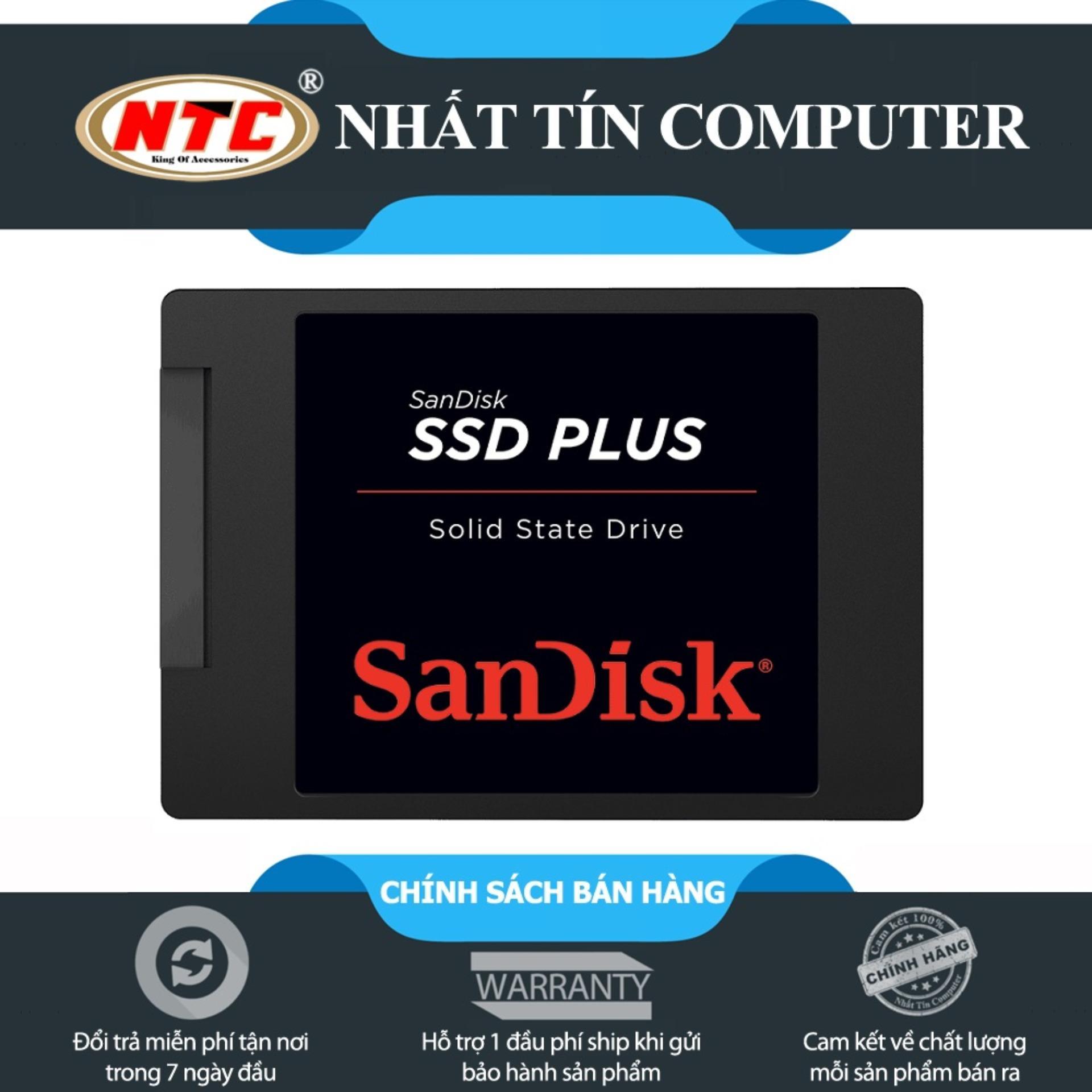 Hình ảnh Ổ cứng SSD Sandisk Plus 120GB 520MB/s (Đen)