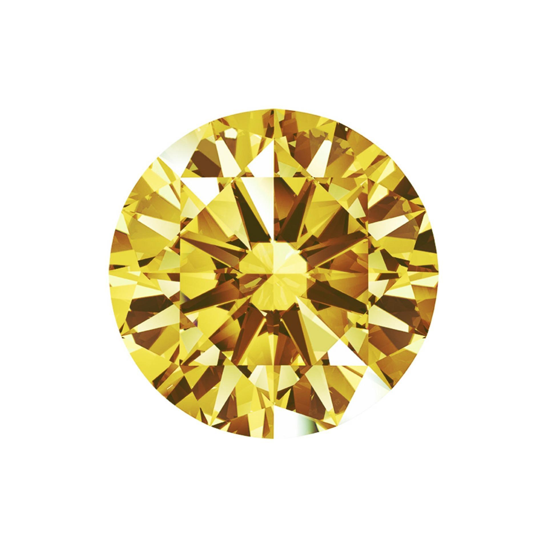 Kim Cương Nhân Tạo FASCINO GEMS Màu Vàng (MỆNH THỔ) Dạng Tròn 12.0 mm