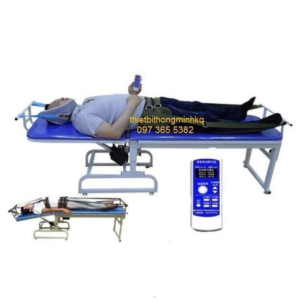 Giường kéo giãn cột sống lưng cổ bằng điện 3 chiều 2 môtơ A999  1