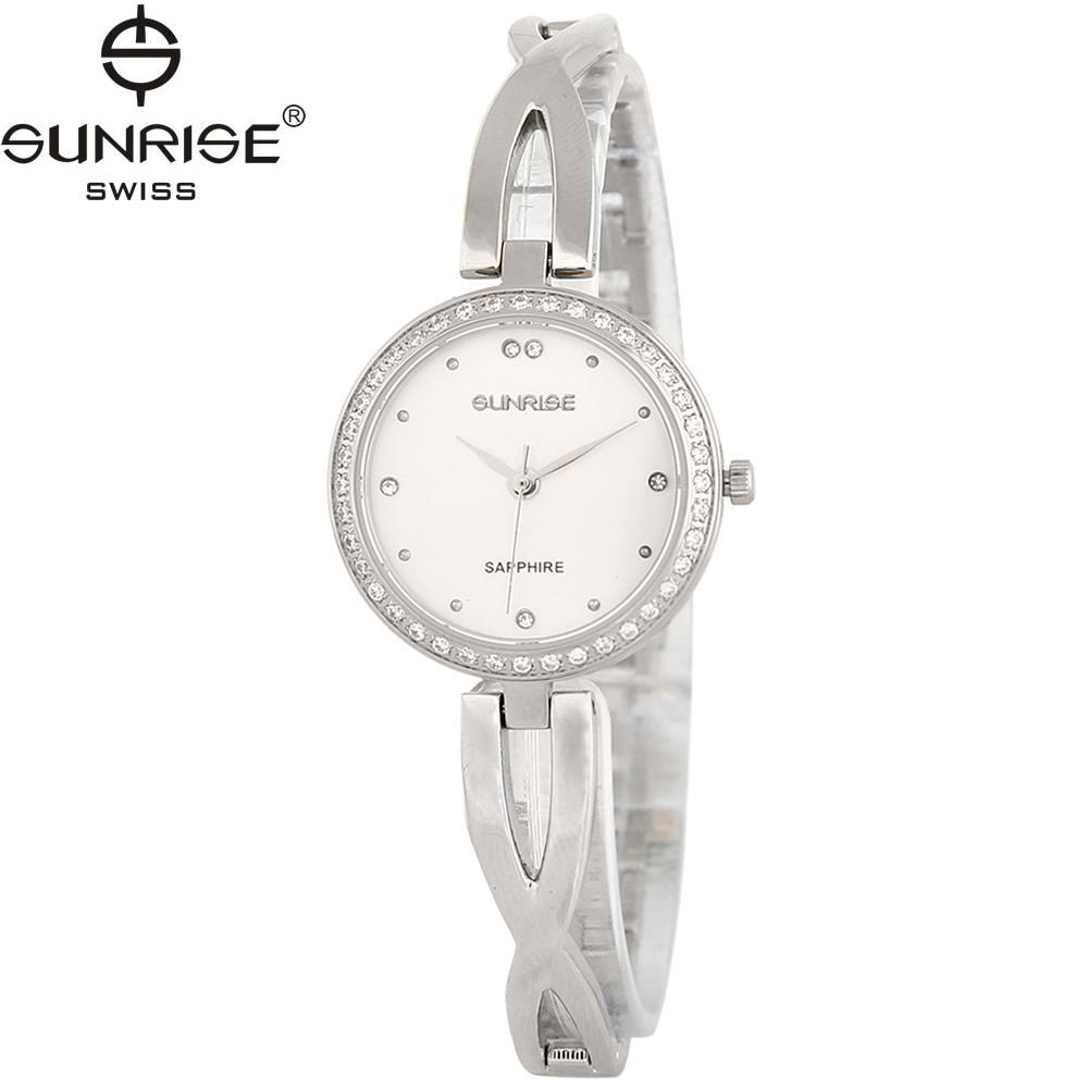 Nơi bán Đồng hồ nữ dây kim loại mặt kính sapphire chống xước Sunrise SL715DLS